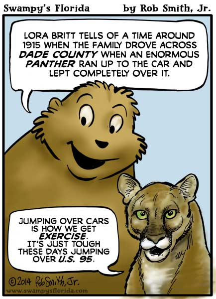 Swampy's Florida Webcomic: Jumping Panthers!