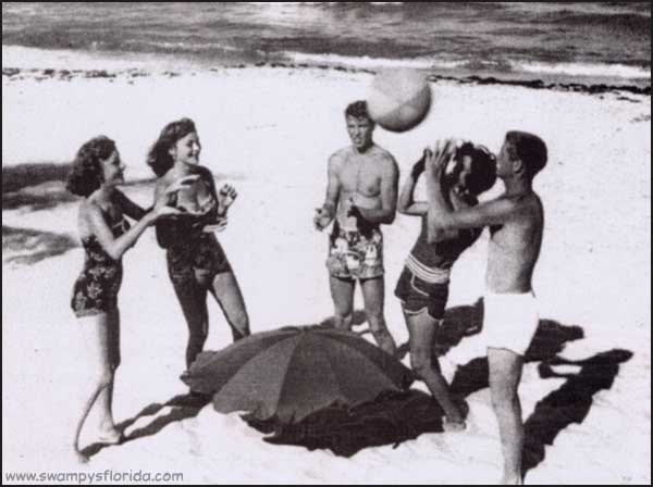 Swampy's Florida Historic Photos - HAving a ball in West Palm Beach, June 1953