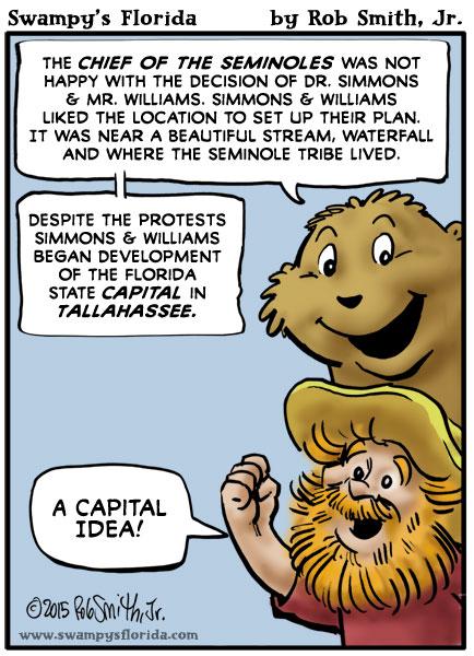 Swampy's #Florida Cartoon: Capital Idea!