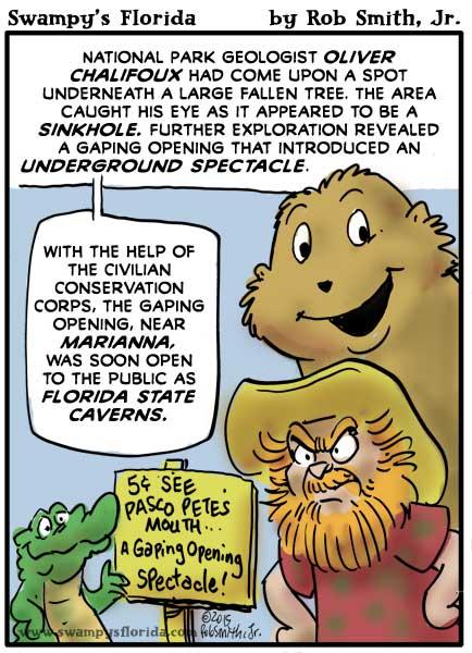 Swampy's #Florida #Cartoon: The Gaping Opening!
