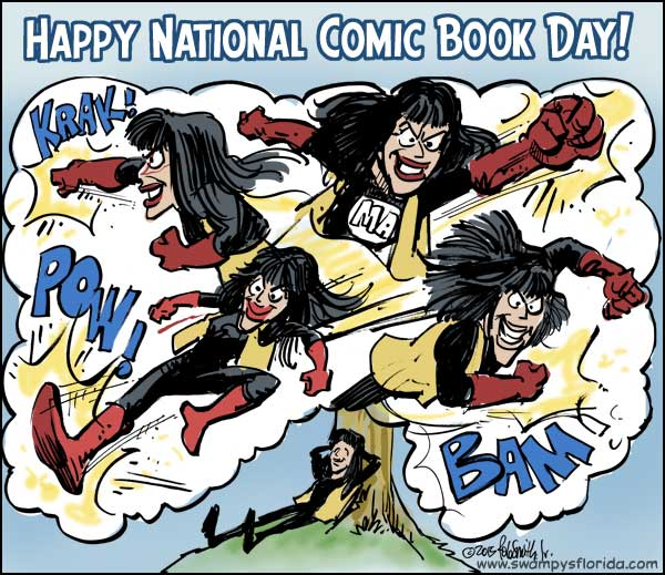 Free Comic Book Day 2015: Swampy's #Florida Says Happy National Comic Book Day