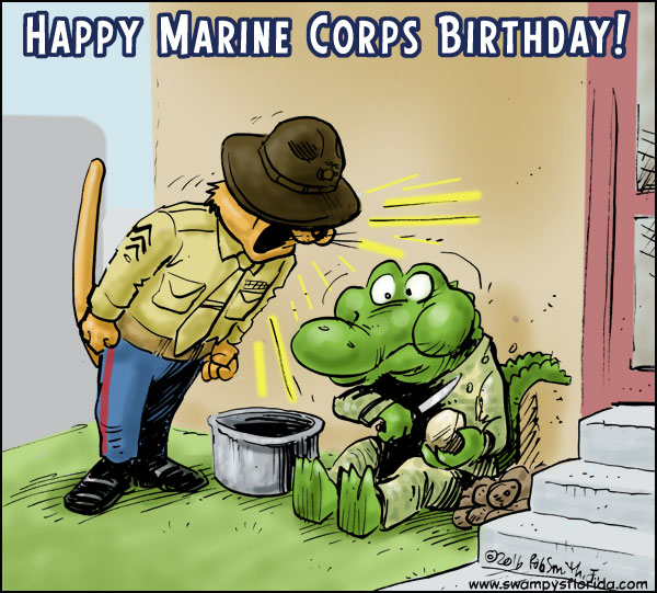 Swampy's #Florida Says Happy Marine Corps Birthday