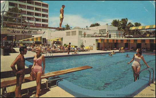 Relatively Swampy's Postcard Thursday: The Sea Gull in Miami Beach, 1960s  ON37