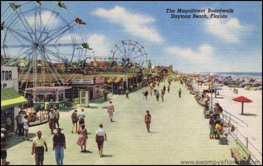 Swampy S Postcard Thursday Daytona Beach Boardwalk Florida